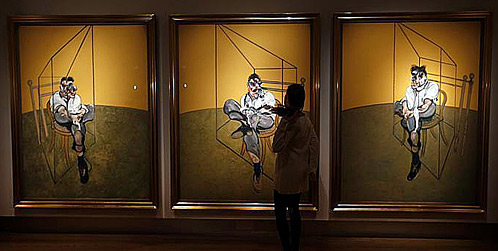 Francis Bacon - Three Studies of Lucien Freud (1969)
